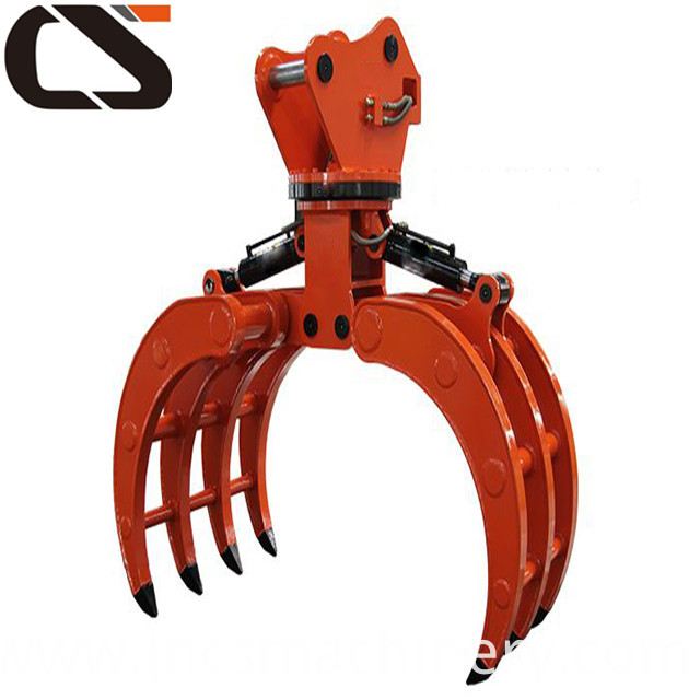 wood stone grapple for mini excavators