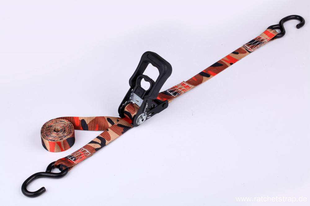 25mm Width Camo Colorful Ratchting Straps