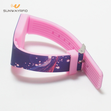 2019 New full colors printing silicone rfid wristbands