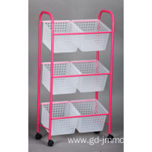 China for Tiered Fruit Basket, 3 Tier Wire Basket, 3 Tier Basket Manufacturer and Supplier in China 3 Tier Organizer Cart supply to Russian Federation Manufacturer