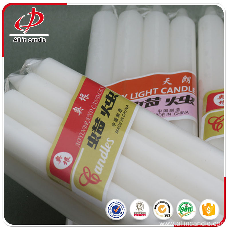 Cheap white candles different sizes