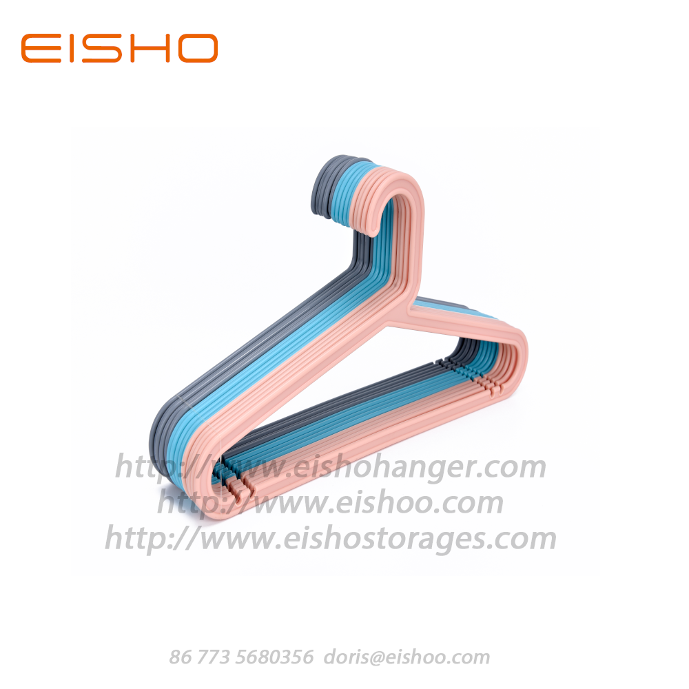 EISHO Premium Colorful Children Plastic Hanger