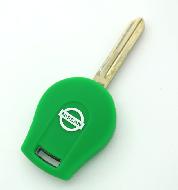backside of Nissan silicone car key case