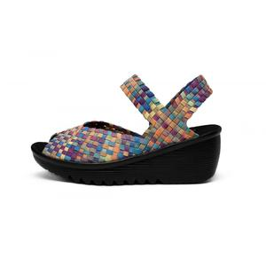 Symphony Blue Soft Breathable Woven Sandals