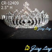 2.5 Inch wholesale wedding hair accessories crystal crowns
