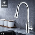 Modern hot cold water single lever kitchen faucet
