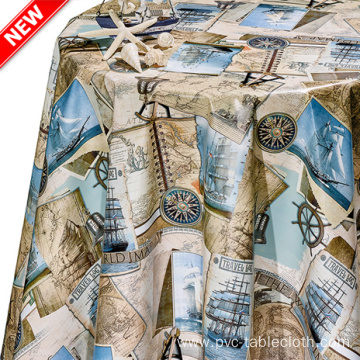 Vinyl Tablecloth Amazon Design