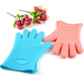 Oven Usage Hot Selling Cover Silicone Gloves With Five Fingers