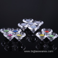 Hand Pressed Crystal Cone Shaped Glass Candle Holder