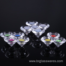 Cheap price for Tea Light Candle Holder Hand Pressed Crystal Cone Shaped Glass Candle Holder supply to Germany Manufacturer