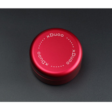 Red anodize Aluminum jewelry case with rubber lining