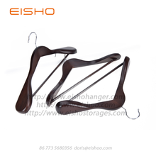 Factory selling for China Wooden Shirt Hangers,Luxury Wooden Hanger,Shirt Hangers Supplier EISHO Luxury Extra Wide Wood Coat Suit Hangers export to Poland Exporter