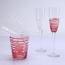 Colorful Wire Drinking Glass Set Of Champagne
