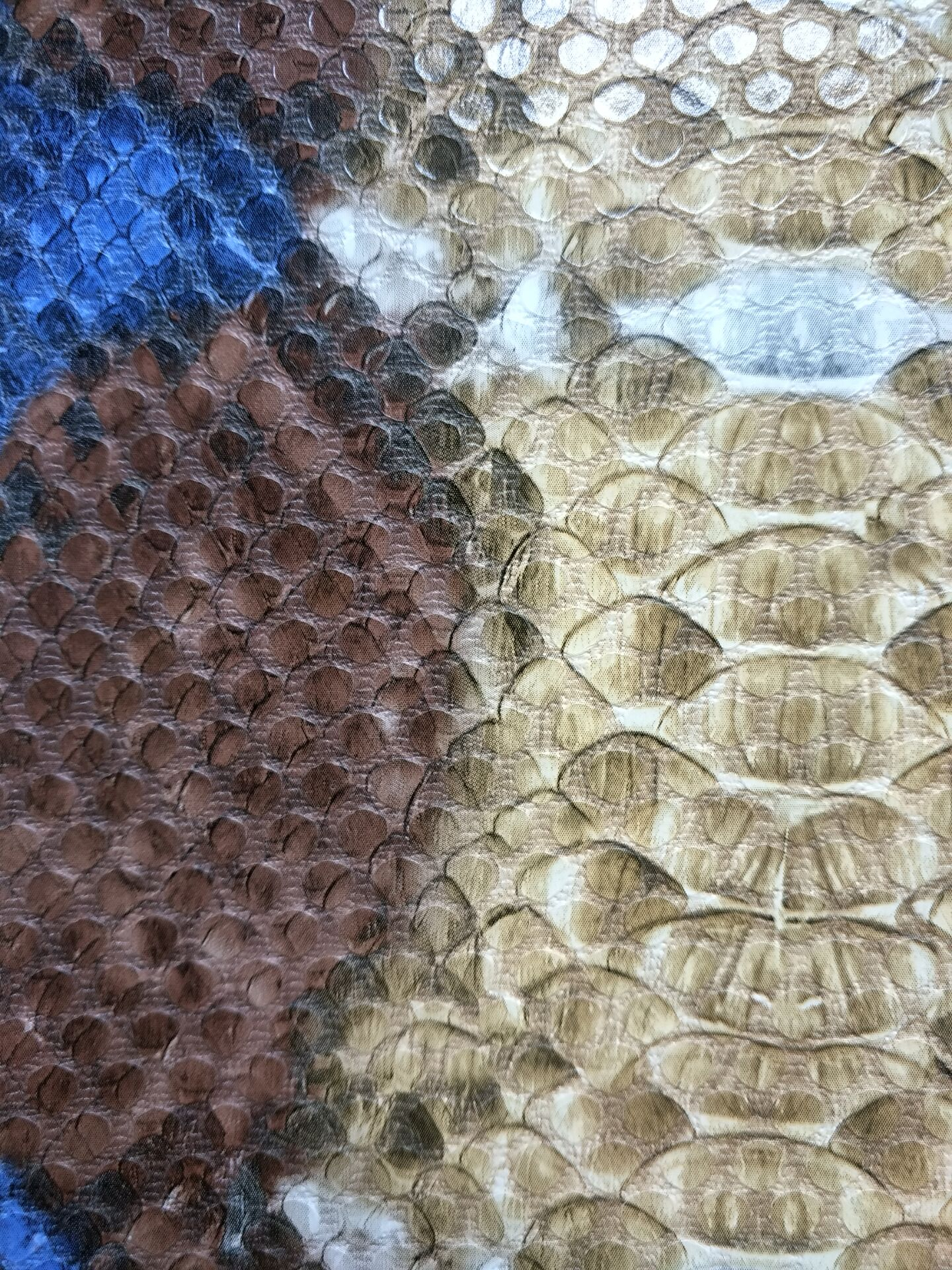 PU embossed leather snake prints