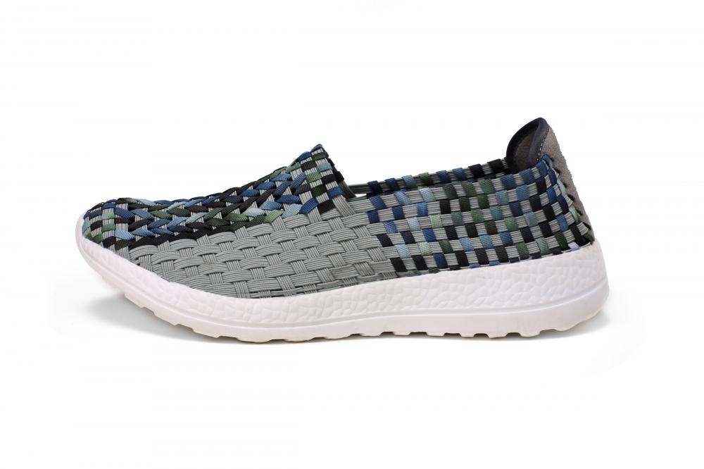 Clearly Visible Woven Texture Hollow Shoes