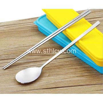 3 Pieces Stainless steel Portable Tableware