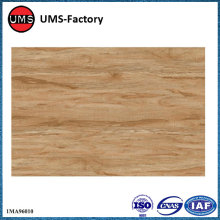Wood grain tiles on wall