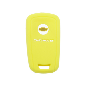 Leather car key cover Chevrolet 5 buttons