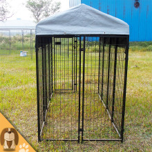Hot outside large black dog kennel crates