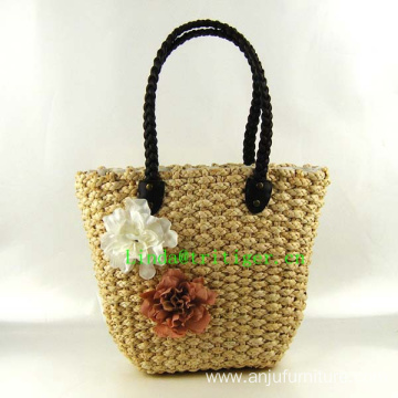 Womens Casual Large Straw Weave Beach Tote Shoulder Bag