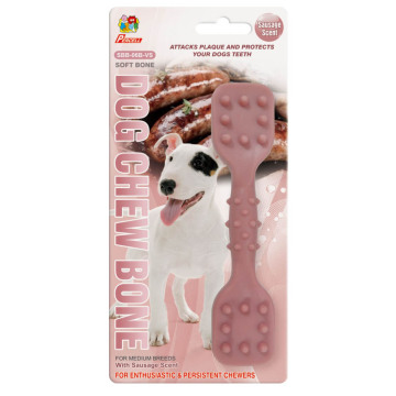 "Percell 6"" Dura Chew Toy Dumbbell Sausage Scent"