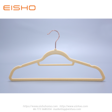Apricot Anti-slip Velvet Coat Hanger With Bar