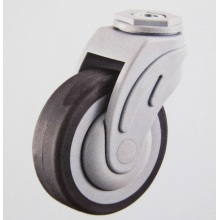 Plastic swivel bolt hole medical caster wheels