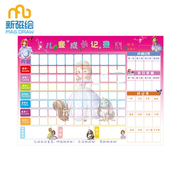 Toddler Good Behavior Sticker Chore Chart For Kid