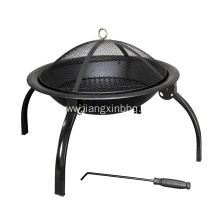 China for Outdoor Fireplace Folding Steel Fire Pit and BBQ supply to France Importers