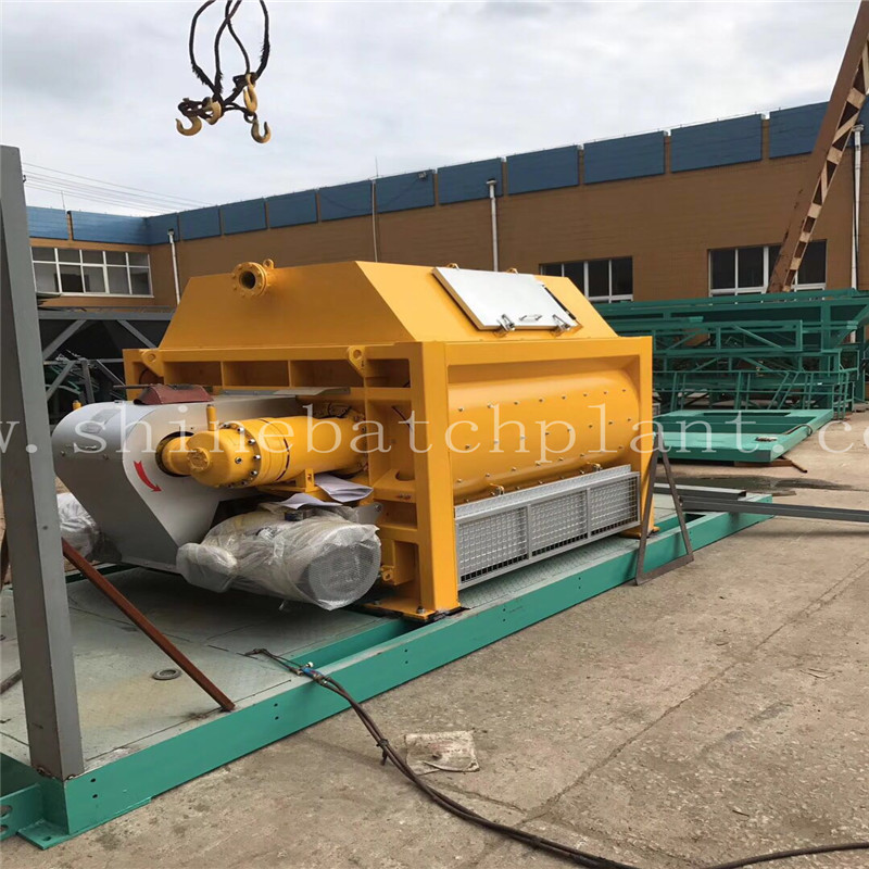 Twin Shaft Concrete Mixer Economy Series