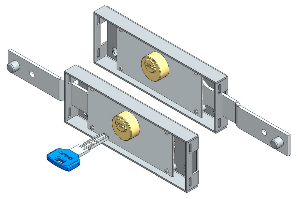 Roller shutter lock set computerkey shifted bolt