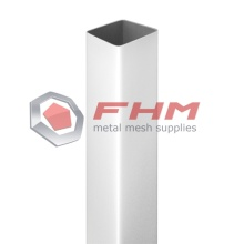Factory directly provide for Galvanized Square Post,Round Post,Metal Fence Post Manufacturers and Suppliers in China Square Post for Fence White Color export to France Wholesale