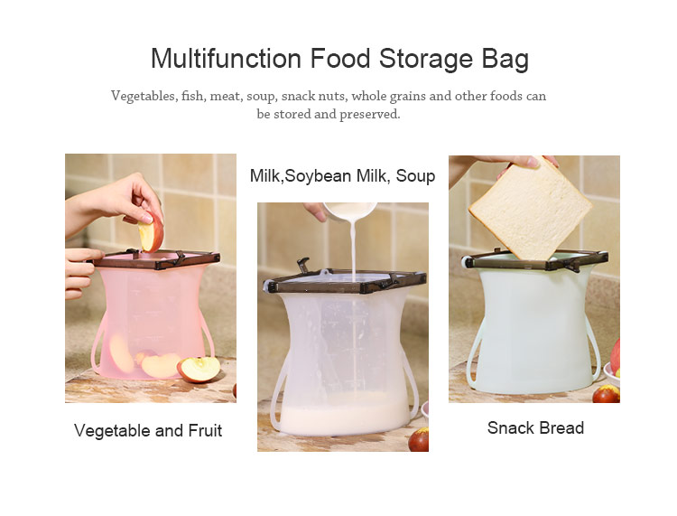 Reusable Silicone Food Storage Bags Silicone Sandwich Bags