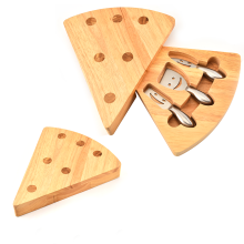 Customized for Wooden Handle Cheese Knife 3Pieces Cheese Knives Set With Wooden Box supply to Japan Factory