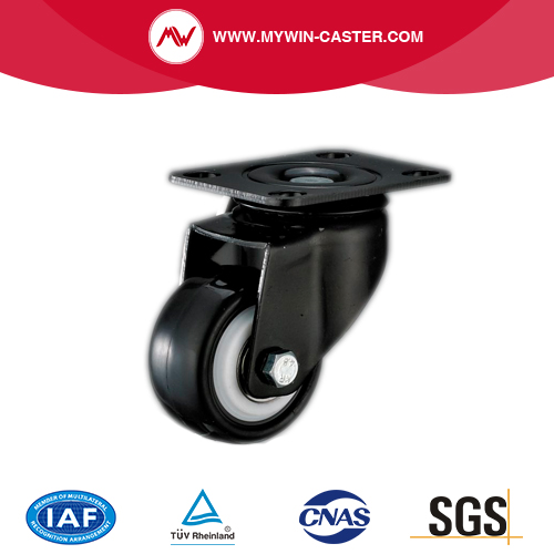 Plate Swivel TPR Industrial Caster