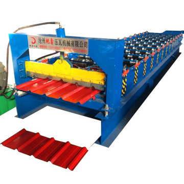 Trapezoidal roofing metal sheet roll forming machine
