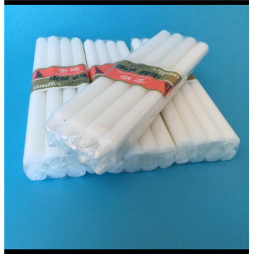 8pcs white pillar stick paraffin wax candle