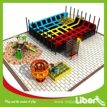 Free Design Project Indoor Trampoline Basketball Court for Children