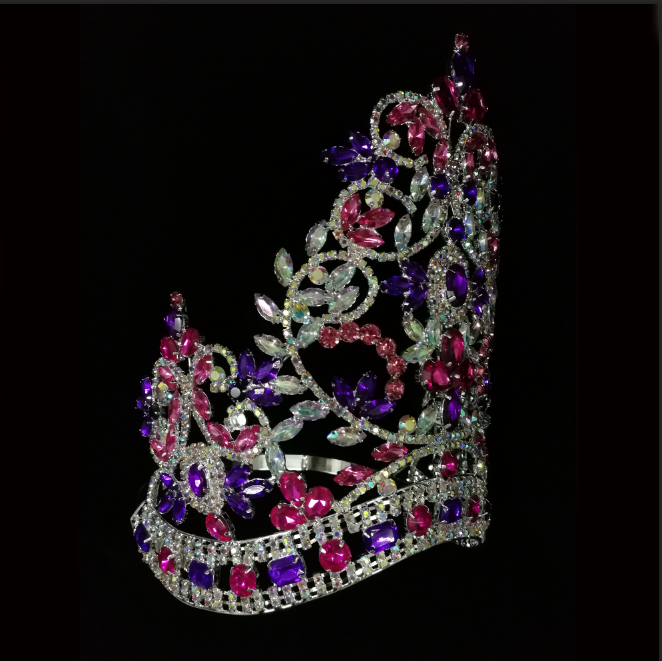 Colorful Curved Large Tall Custom Crown