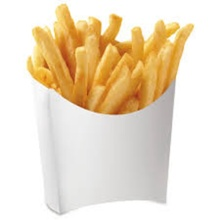 Custom Logo Paper Chips Scoop French Fries Box