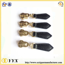 10 Years manufacturer for Metal Zipper Slider custom embossed logo leather zipper slider pulls export to Spain Manufacturer