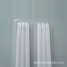 Gravelights non drip white taper candles