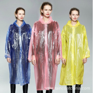 China Gold Supplier for Disposable PE Raincoat Disposable Emergency Plastic Rain Coat for Adult export to Kenya Importers