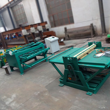 Color steel sheet leveling machine line