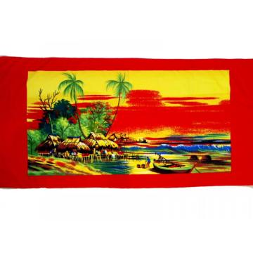 Wholesale Palm Heat Transfer Print Beach Towel