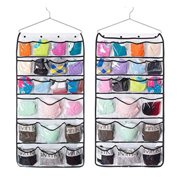 wholesale white Hanging Closet Dual-Sided Organizers 42 Pockets for socks underwear