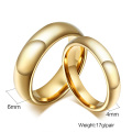 Gold his and hers tungsten wedding ring sets