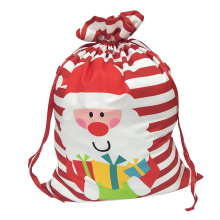 Christmas sack with printed santa claus pattern