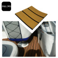 Light Teak + Black Color Marine EVA Foam Yacht Flooring
