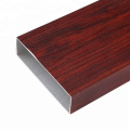 Wood Grain Aluminum Square Profile Tube For Decoration